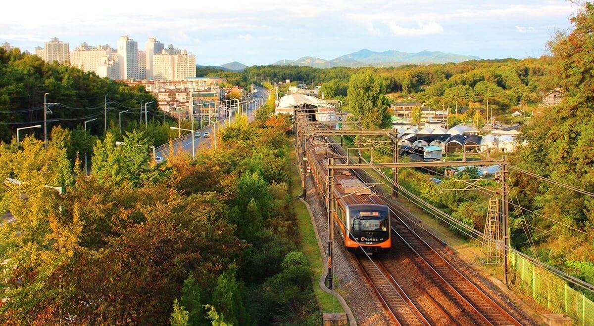 Le train à Séoul