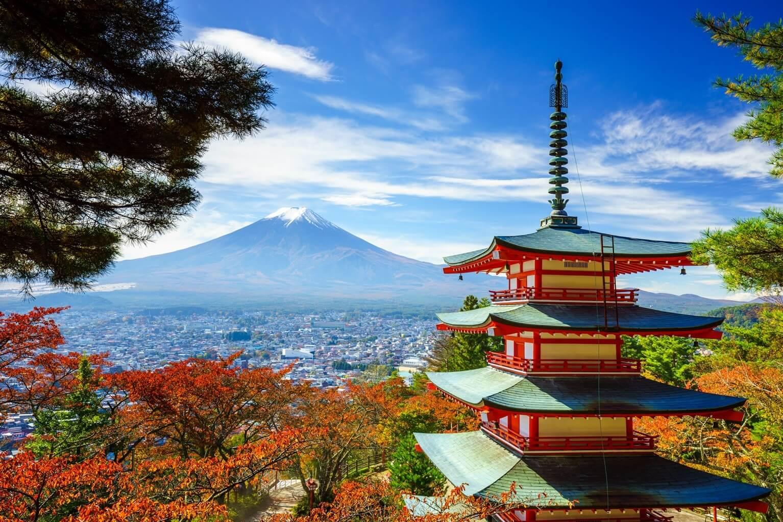 Mont Fuji, Pagode Chureito, Fujiyoshida, Japon