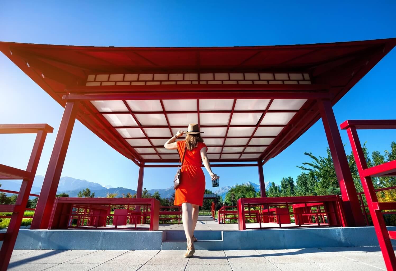 Visite d'un temple japonais