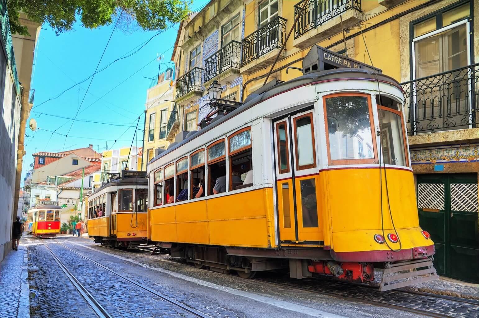 Transport en commun à Lisbonne : Tram jaune