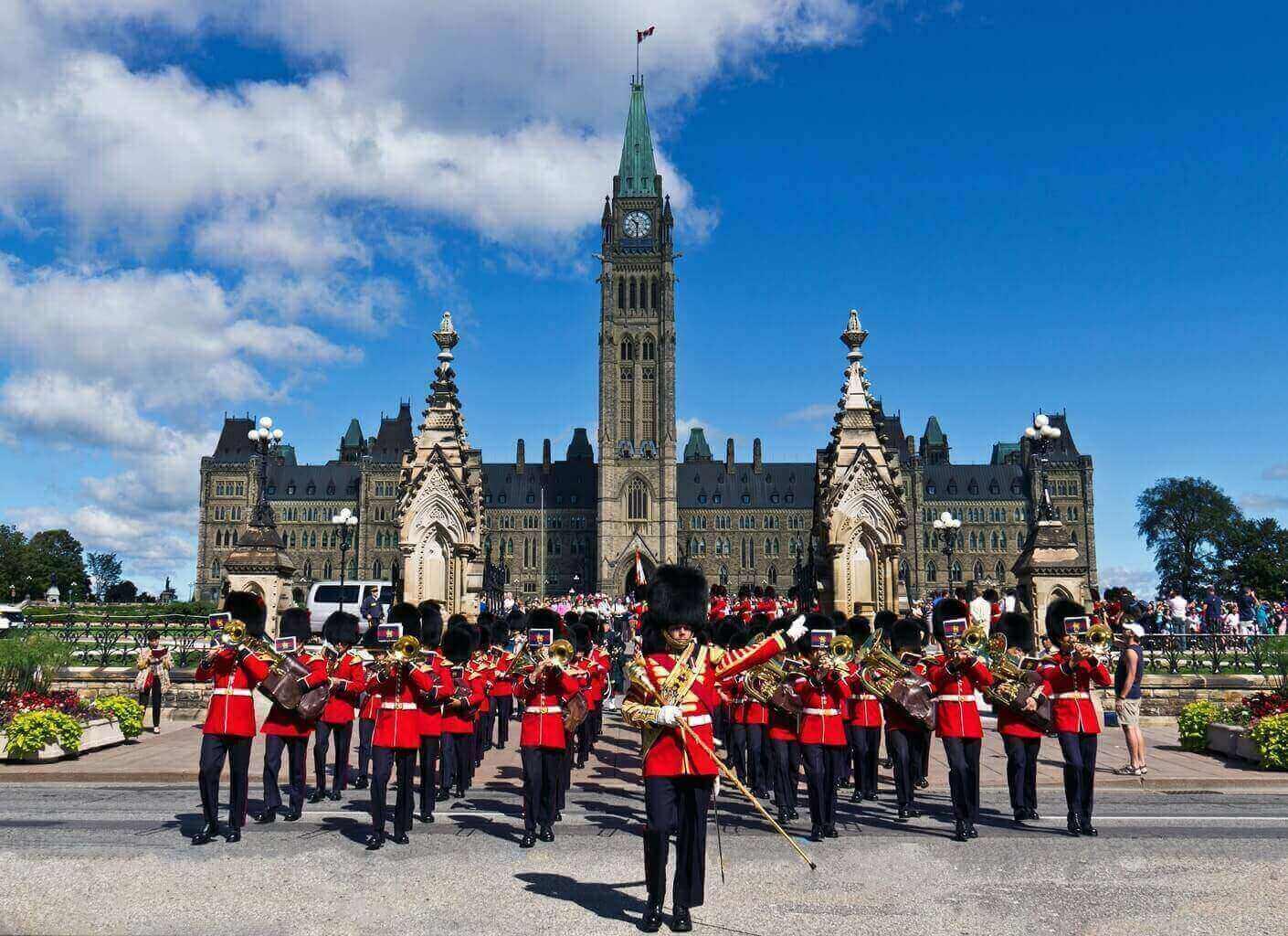 Parlement Ottawa Canada, relève de la garde