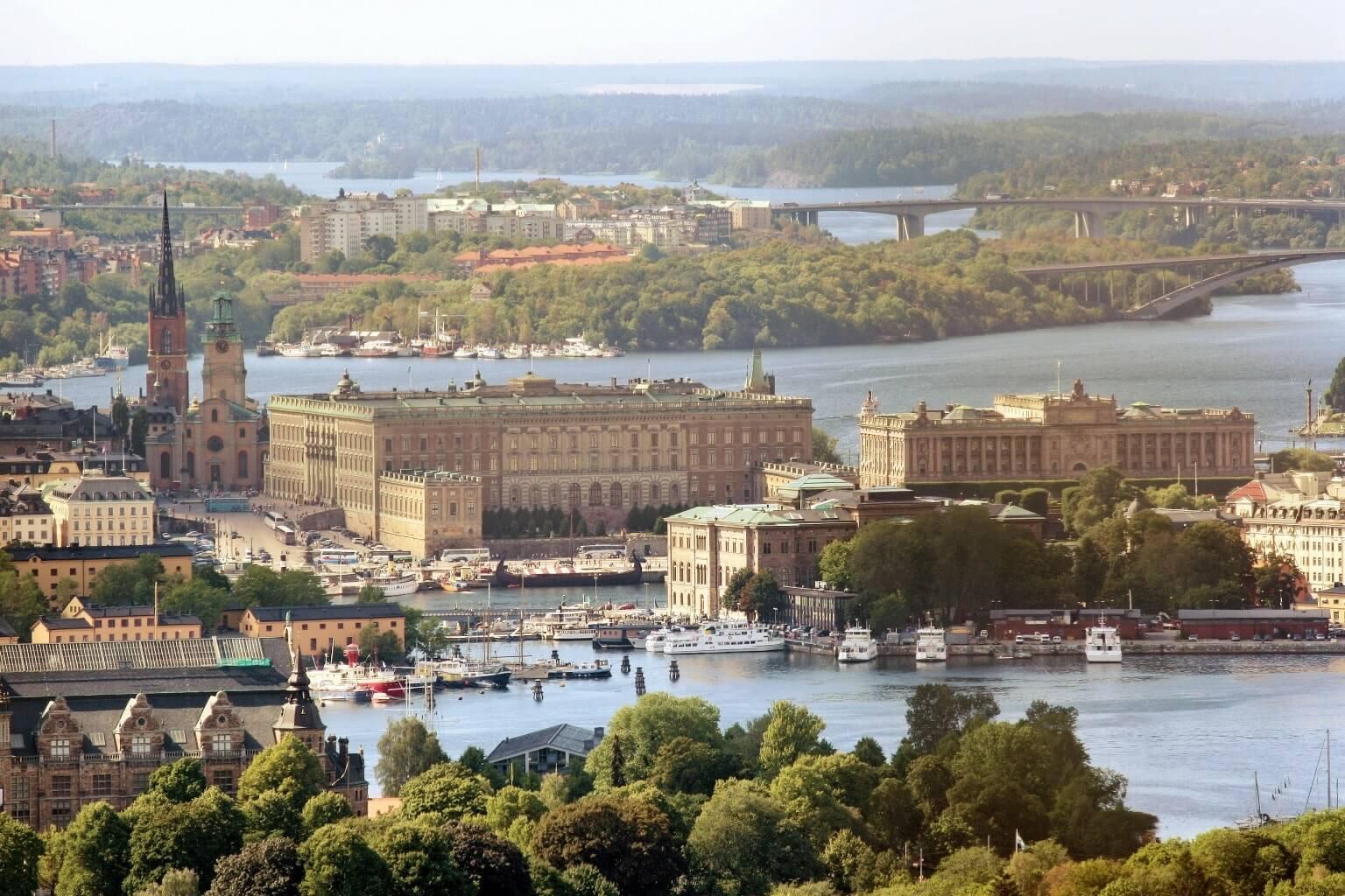 Paysage de Stockholm, Suède