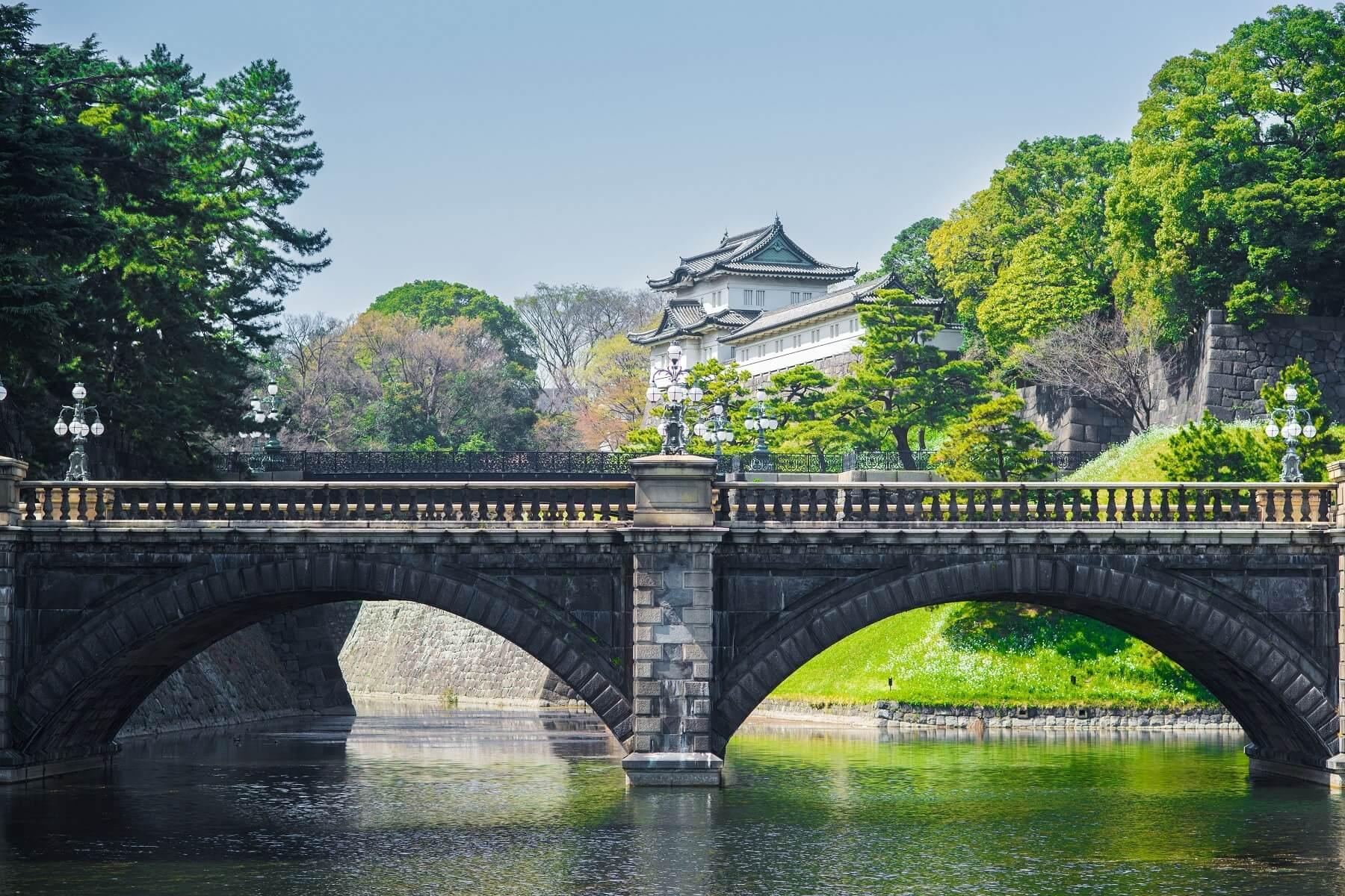 Parc du palais impérial, Tokyo, Japon