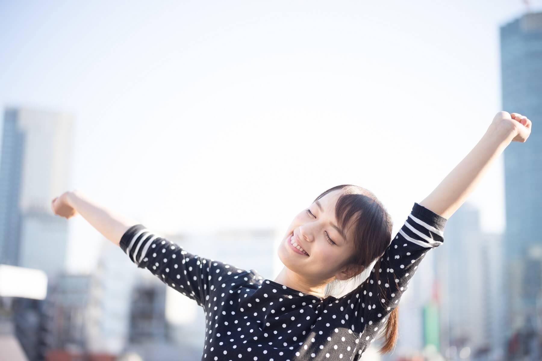 Jeune japonaise en bonne santé
