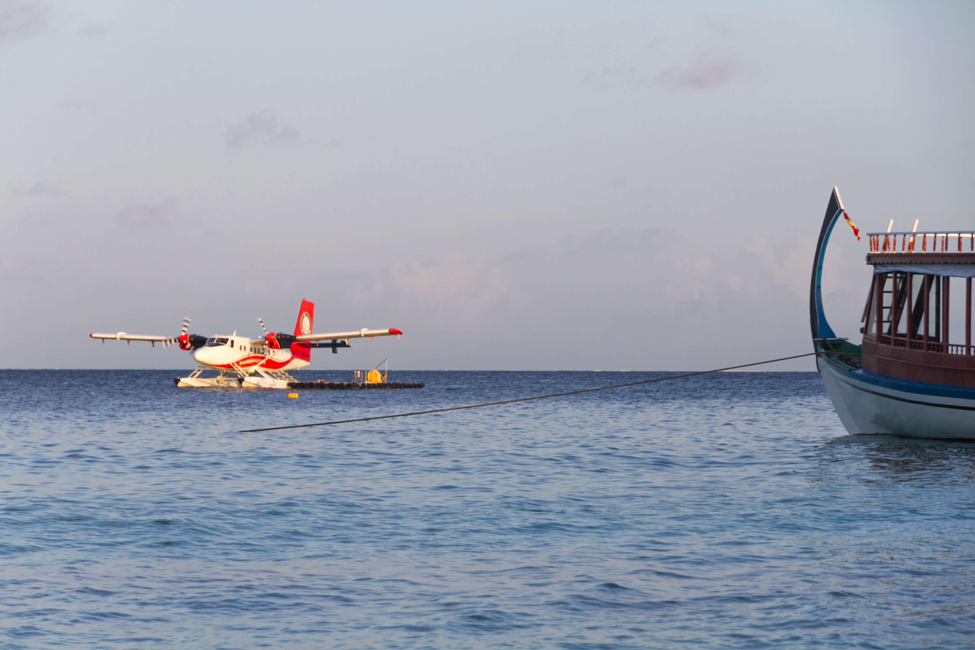 se rendre aux Maldives