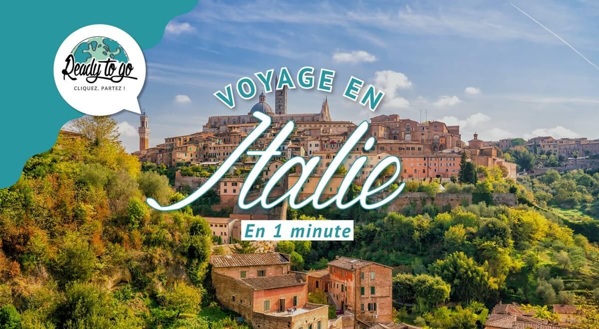 Voyage en Italie en 1 min