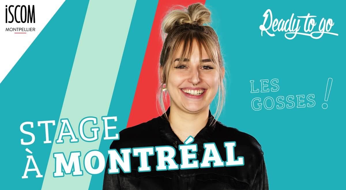 Stage à Montréal - Etudiante ISCOM – Interview TRIK TRAK TREK – READY TO GO