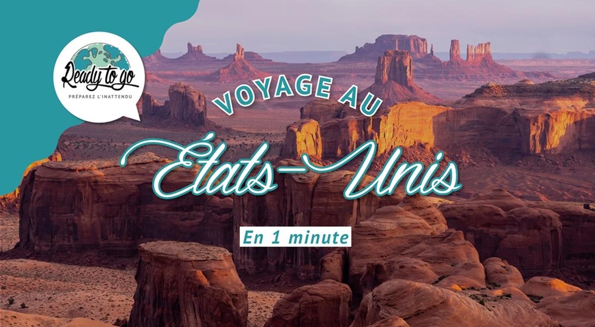 Voyage aux États-Unis en 1 min