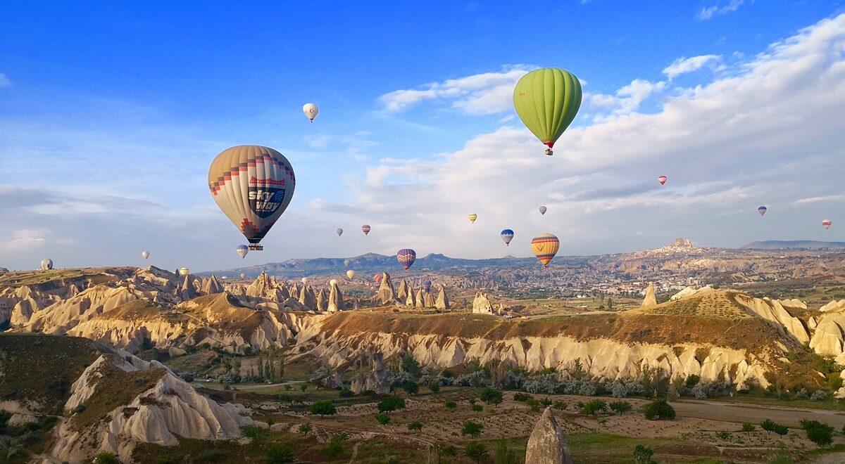 Un tour de montgolfière en Cappadoce  !