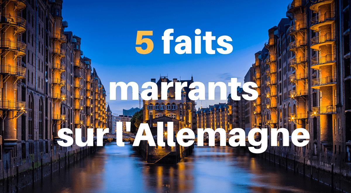 Cinq faits marrants sur l'Allemagne !