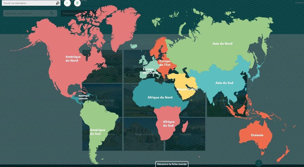 Une nouvelle « Map » pour faciliter l'accès à tes destinations préférées