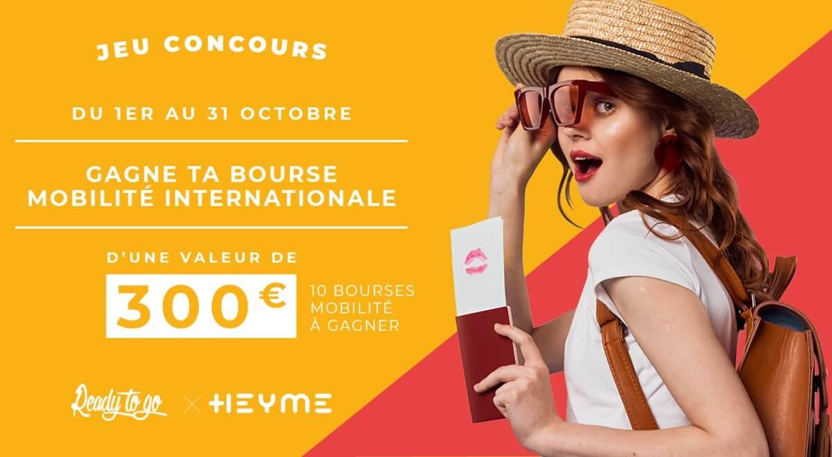 READY TO GO & HEYME t'offrent une bourse mobilité de 300€ !